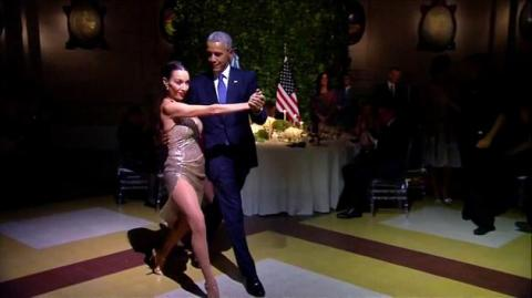 Obama does the Tango
